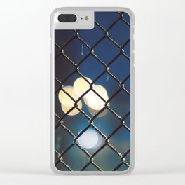 night lights throught the grid Clear iPhone Case