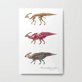 Parasaurolophus Anatomy Metal Print
