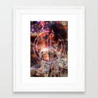 woodstock Framed Art Prints featuring Woodstock Peace by ZiggyChristenson