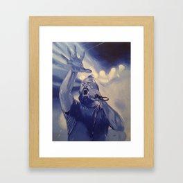 OH THIS BURNING BEARD Framed Art Print