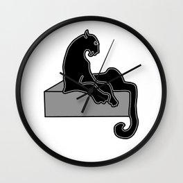 black Panther . Art Wall Clock