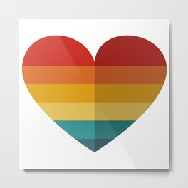 Heart with retro colors Metal Print