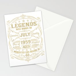 Legend Born July 1959 Shirt 60th Birthday T-shirt Gifts Stationery Cards