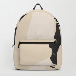Minimal Abstract Art Couple Backpack