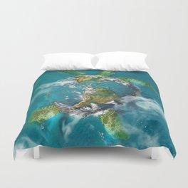 Earth Turtle Duvet Cover