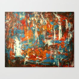 An Oasis In A Desert Abstract Painting Canvas Print