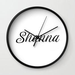Name Shanna Wall Clock