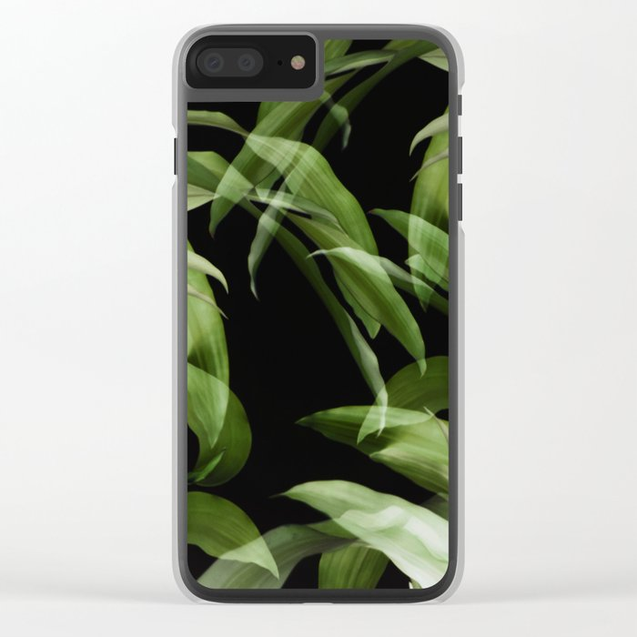 Tropical leaves. Pattern. Clear iPhone Case
