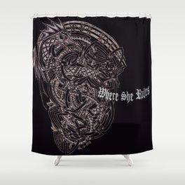 Dragon Runes Shower Curtain