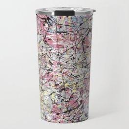Crescendo - Jackson Pollock style abstract drip canvas art by Rasko Travel Mug
