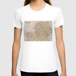 Vintage Map of Northern Ireland (1883) T-shirt