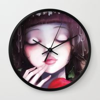 snow Wall Clocks featuring Snow white by Ludovic Jacqz