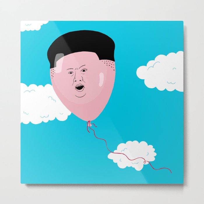 Kim Jong-Ball-Un Metal Print