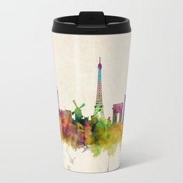 Paris Skyline Watercolor Travel Mug