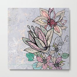 Paper Flowers #3 Metal Print