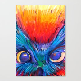 Crazy Owl  Canvas Print