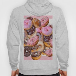 MODERN ART PINK & CHOCOLATE DONUT PASTRY MONTAGE Hoody