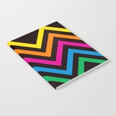 Chevron Sherbet black Notebook