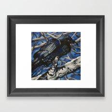 Raven 5 Framed Art Print