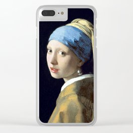 Johannes Vermeer Girl with a Pearl Earring Clear iPhone Case