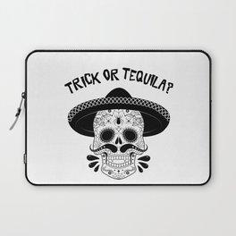 Trick or Tequila Halloween Sugar Skull Vampire Laptop Sleeve