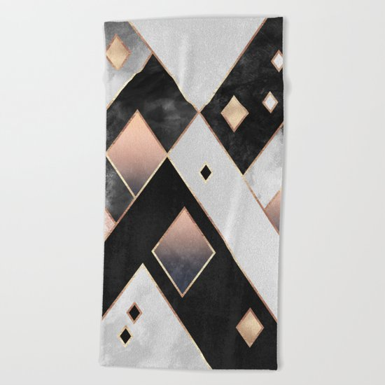 Diamonds 1 Beach Towel