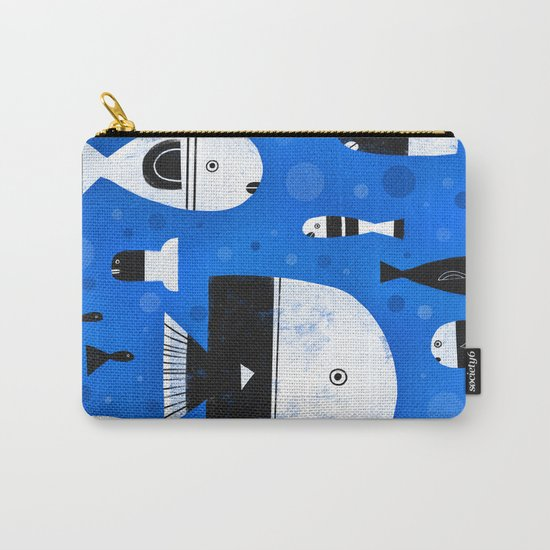 BLACK & WHITE FISHES Carry-All Pouch