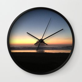 Sunset over the Pacific Wall Clock