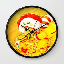 Ronald Over Eater Wall Clock