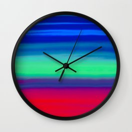 Rocket Blue Wall Clock