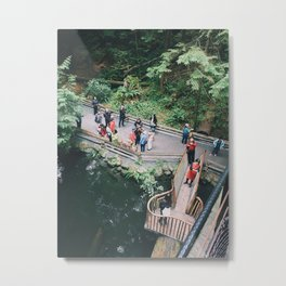 People in the Canadian Forest Metal Print