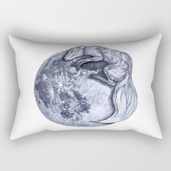 Blue Moon Fox Rectangular Pillow