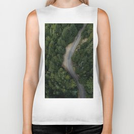 NATURE - PHOTOGRAPHY - FOREST - HIGHWAY - ROAD - TRIP - TREES Biker Tank