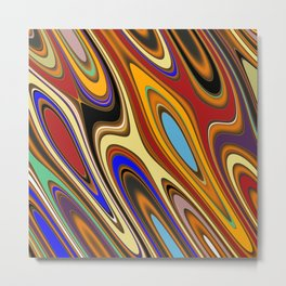Color Mix Abstract Metal Print
