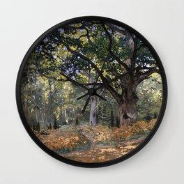 Claude Monet - Le chêne Bodmer de la forêt de Fontainebleau - The Bodmer Oak, Fontainbleau Forest Wall Clock
