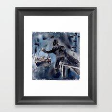 Cat Dad Vader 2 Framed Art Print