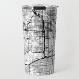 Chicago Map White Travel Mug