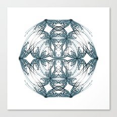 Mandala blue and black Canvas Print