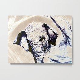 Abstract Elephant for Mom Metal Print