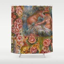 """Auguste Renoir """"Étude De Nus Et De Fleurs"""" Shower Curtain"""