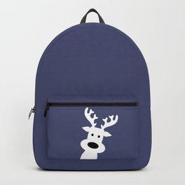 Reindeer on blue background Backpack