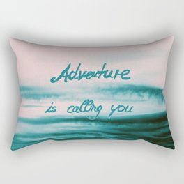 Adventure is calling you #2 #typo #abstract #decor #art society6 Rectangular Pillow