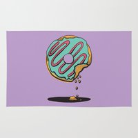 donut Area & Throw Rugs featuring Donut Shop by Alpha-Tone