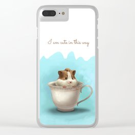 hamster in the cup Clear iPhone Case