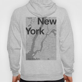 New York - Minimal Map Hoody