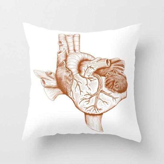 The Heart of Texas (UT) Throw Pillow