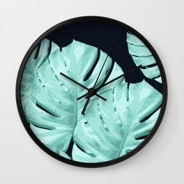 Monstera, Ancora #4 Wall Clock