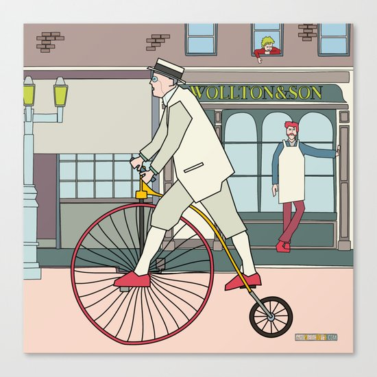 Steampunk Penny-Farthing Velocipedes Canvas Print