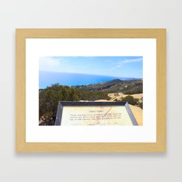 View point  Framed Art Print