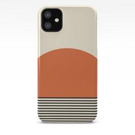 Sunrise / Sunset - Orange & Black iPhone Case